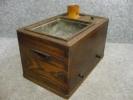 【文】15158 たばこ盆(小火鉢) ケヤキ製 喫煙具きせる煙管刻み