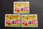 即決★年賀切手 平成28年(2016年)お年玉切手シート 3枚⑨★