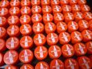 ☆ペットボトルキャップ☆フタ 100個 赤 工作 図工 コカ・コーラ