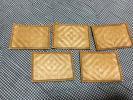 籐 網代 茶托 小皿 昭和レトロ 茶道具 煎茶具 5枚組