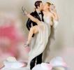 ウエディングケーキの飾り 花嫁 花婿 トッピング 新品 送料無料