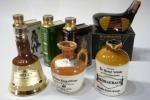 ミニチュア陶器ボトル7本ウィスキー、ブランデー BELL'Sその他